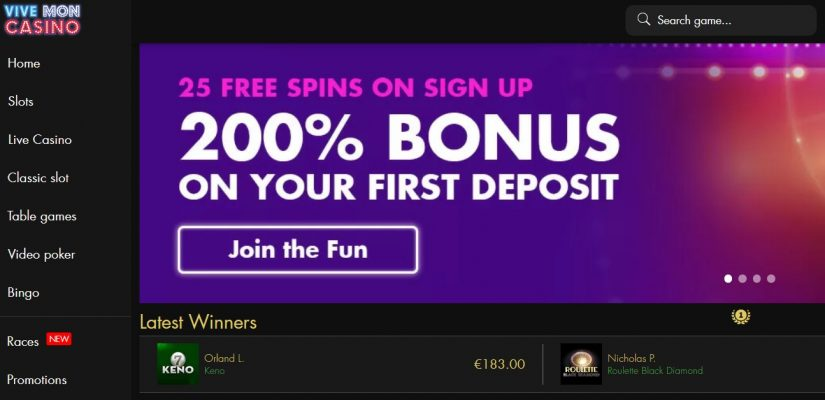 Vivemon Casino Bonuses Are At Your Disposal